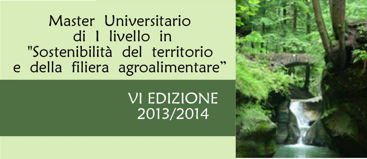 """Master   in  """"Sostenibilità  del  territorio  e  della  filiera  agroalimentare"""