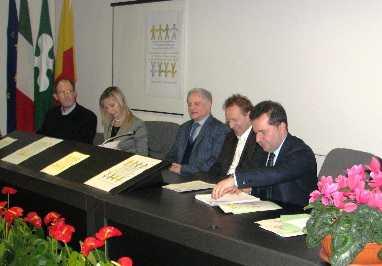 Conferenza stampa Giornate europee 3 marzo 2014 - Da sinistra Poli Terzi Salomone Piccinelli e Bandera