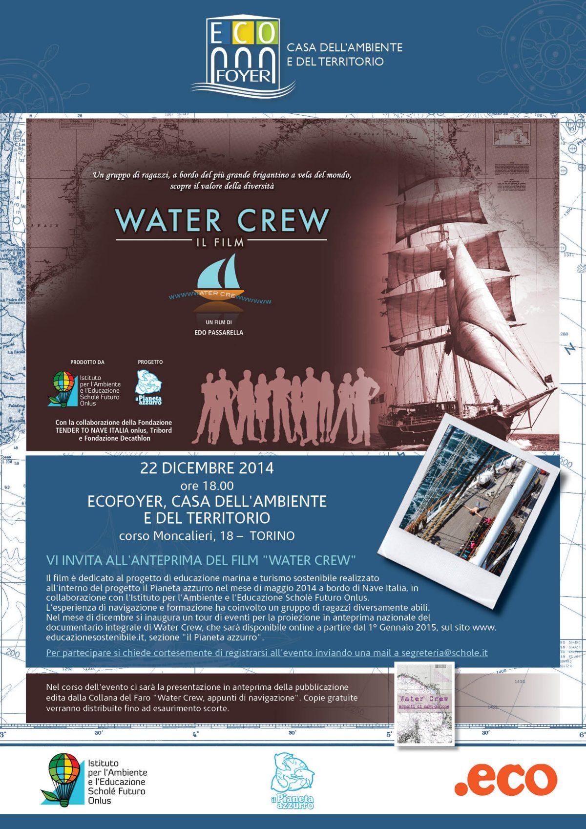 La proiezione di Water Crew, il film approda a Torino