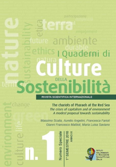 I Quaderni di Culture della sostenibilità 1 – 2016