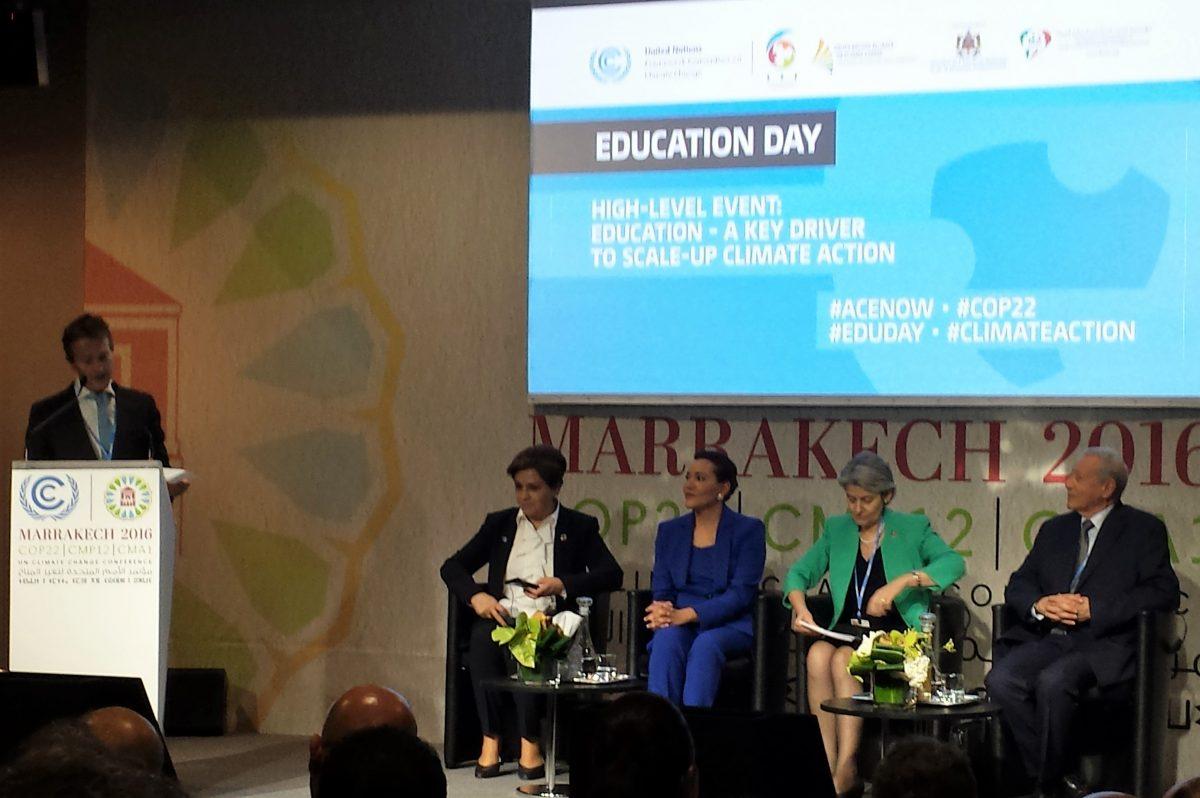 Alla COP22 una giornata dedicata all'educazione