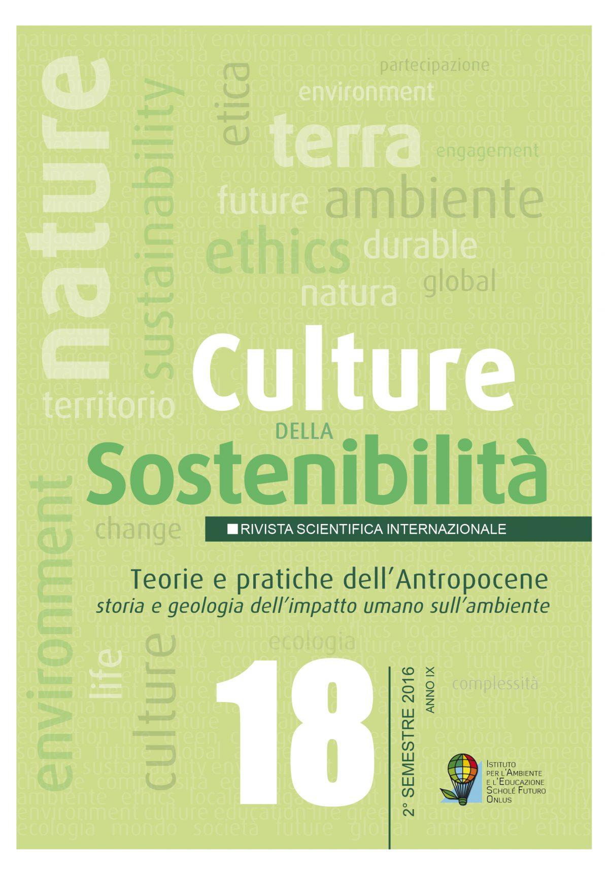 Culture della sostenibilità 18 – 2016