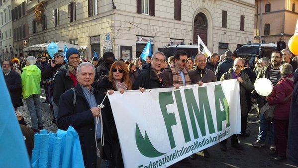 A Roma anche giornalisti e comunicatori ambientali in marcia