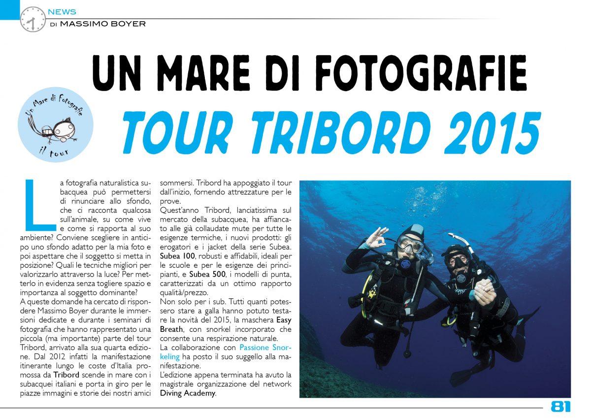 """Il Tour Tribord """"Un Mare di Fotografie"""" su ScubaZone"""